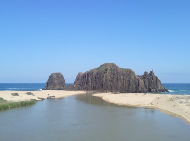 後ヶ浜の立岩 間人の一番の景勝地
